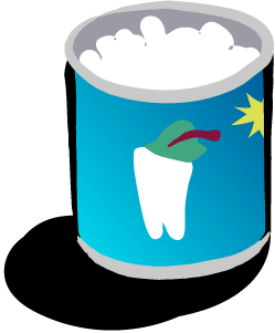 Can with a colorful label that says Mixed Teeth.